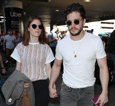 Rose and Kit photographed leaving LAX