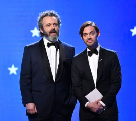 Michael Sheen and Tom Payne