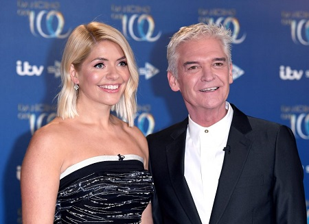 Phillip Schofield and Holly Willoughby at ITV Studios.
