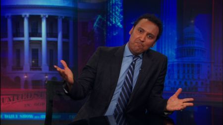 Aasif Mandvi as a correspondent on The Daily Show