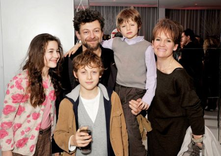 Ruby with her father, Andy, mother, Lorraine, and brothers, Sonny and Louis