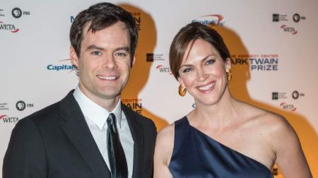 Bill Hader with his ex-wife, Maggie Carey