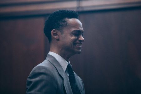 Marquis' character, Raymond Santana immediately following his wrongful incarceration in When They See Us