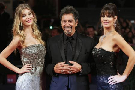 "Camila, her mother, and her ""stepfather"" Al Pacino"