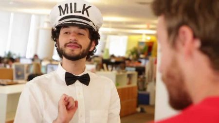 "Ben Schwartz in the Jake and Amir episode, ""Milk Man"""