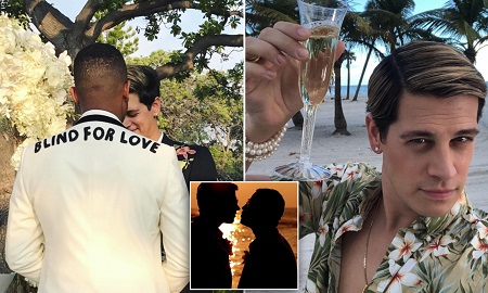 Yiannopoulos married his partner in an extravagant wedding ceremony at the Four Seasons Resort Hualalai