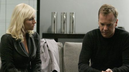 Elisha Cuthbert and Kiefer Sutherland in 24