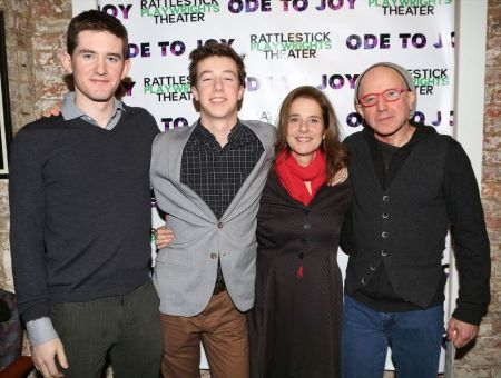Debra Winger with her two sons, Noah Hutton (left) and Babe Howard (middle), and her husband, Arliss Howard (right)