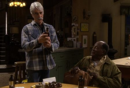 John Amos with Sam Elliott in The Ranch