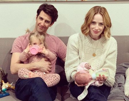 Jaime Ray Newman with husband, Guy Nattiv, and their two daughters