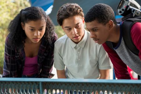 Jason Genao (middle) as Ruby Martinez in On My Block