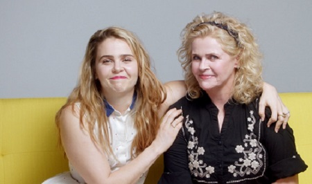 Mae Whitman with her mother Pat Musick