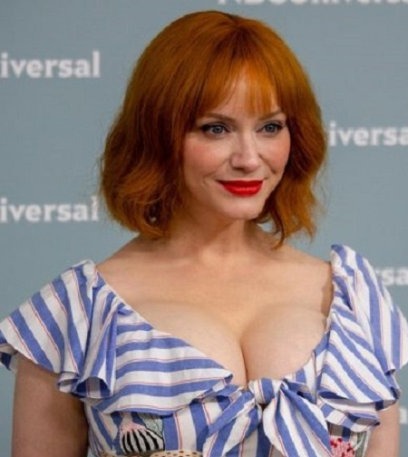 American actress Christina Hendricks is most known for playing Joan Holloway in the AMC period drama, Mad Men.  Most recently, she stars in the NBC comedy crime-drama TV series, Good Girls.